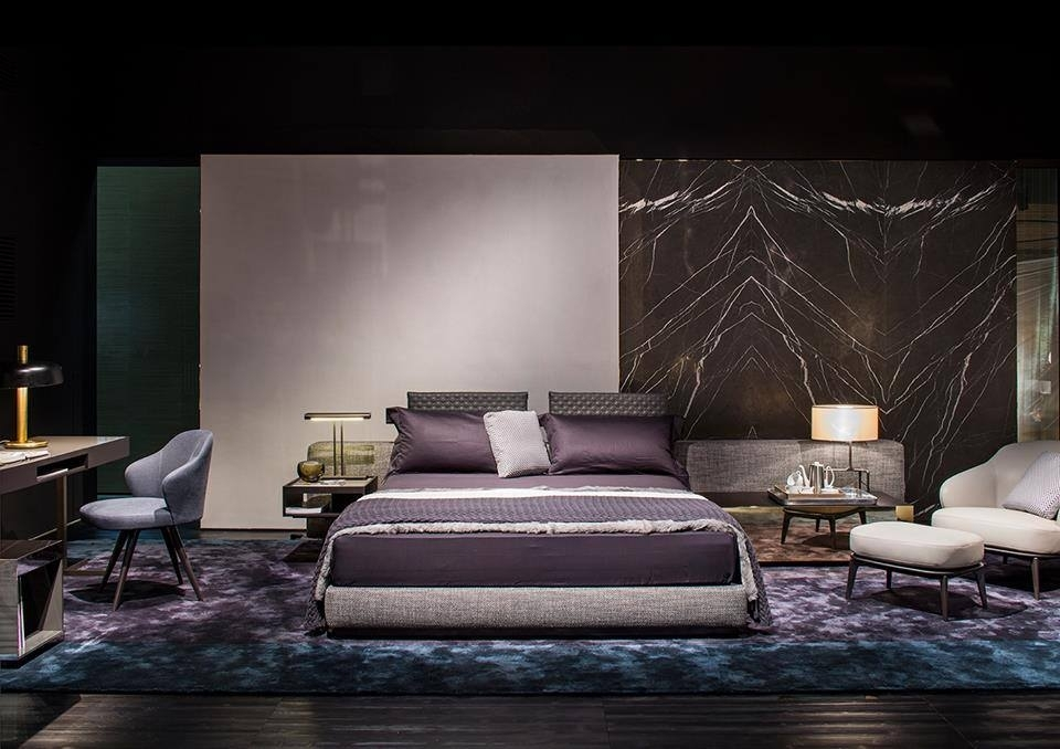 BED YANG, ARMCHAIRS LESLIE, WRITING DESK AND SIDE TABLE CLOSE, COFFEE TABLES ELLIOTT - DESIGNER RODOLFO DORDONI